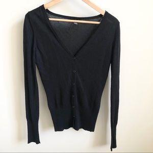 LINE Fine Knit V-Neck Cardigan - Size Small